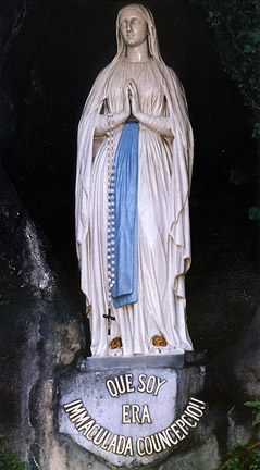 Mary at the spot of the Apparitions